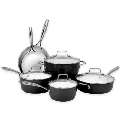 Oneida 174 Ceramic Nonstick 10 Piece Cookware Set Bed Bath