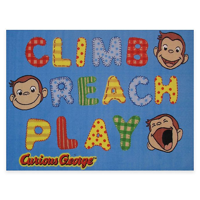 Alternate image 1 for Fun Rugs Curious George Climb, Reach, Play 4-Foot x 6-Foot Area Rug