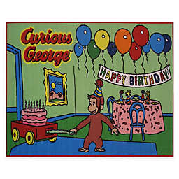 Fun Rugs® Curious George Birthday 3-Foot 3-Inch x 4-Foot 10-Inch Accent Rug