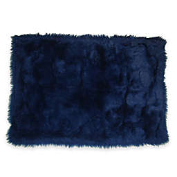 Fun Rugs® Flokati Shag Rug in Dark Blue