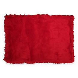 Fun Rugs® Flokati Rug in Red
