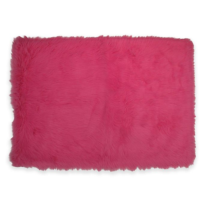 Fun Rugs® Flokati Rug In Hot Pink