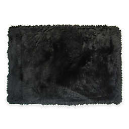 Fun Rugs 2-Foot 7-Inch x 3-Foot 11-Inch Flokati Accent Rug in Black