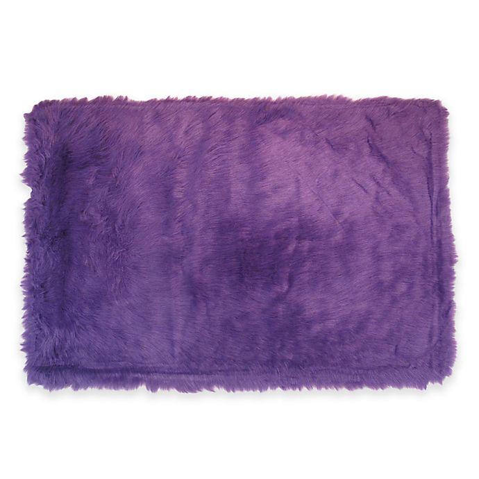 Alternate image 1 for Fun Rugs Flokati Rug in Purple