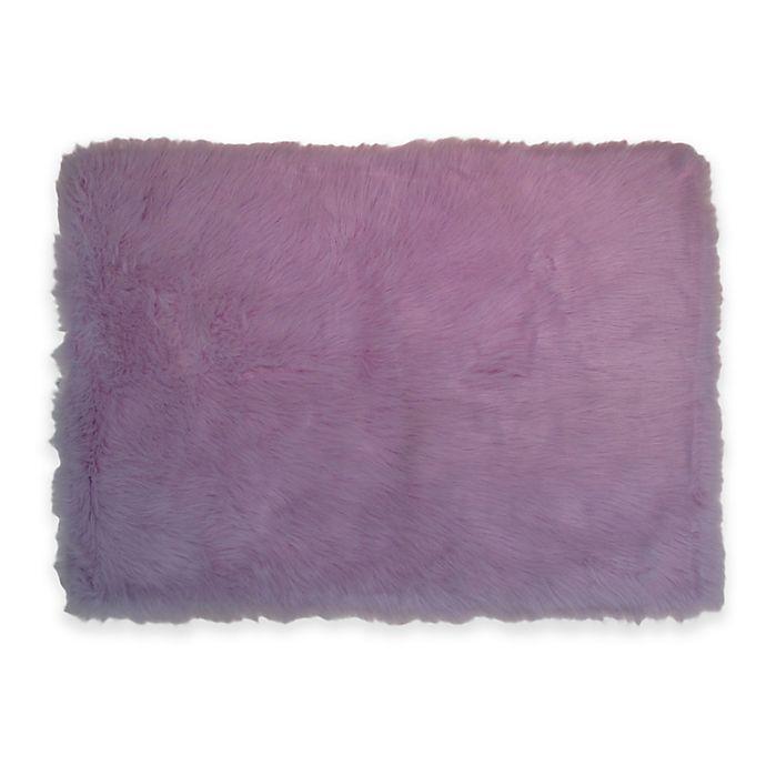 Fun Rugs Flokati Rug In Lavender