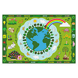 Fun Rugs™ 4-Foot x 6-Foot Go Green Area Rug