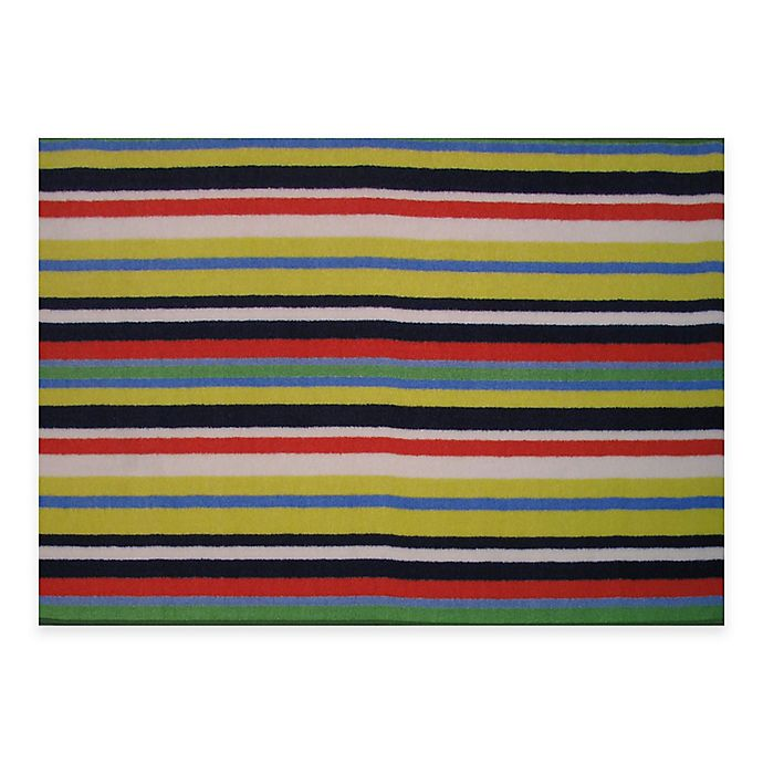 Alternate image 1 for Fun Rugs Stripemania 1-Foot 7-Inch x 2-Foot 5-Inch Accent Rug