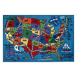 Fun Rugs Travel 8-Foot x 11-Foot Multicolor Area Rug