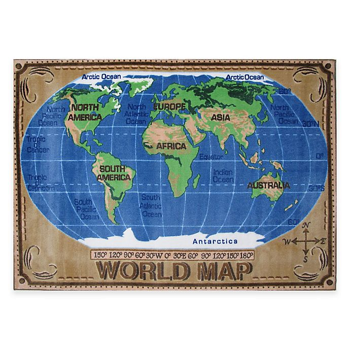 Alternate image 1 for Fun Rugs World Map Rug