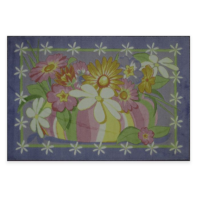 Alternate image 1 for Fun Rugs Wildflowers 3-Foot 3-Inch x 4-Foot 10-Inch Area Rug