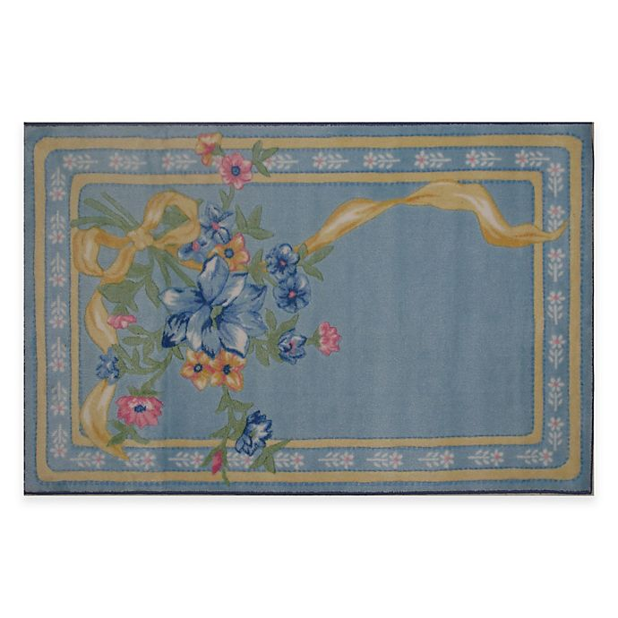 Alternate image 1 for Fun Rugs Flower Ribbon 3-Foot 3-Inch x 4-Foot 10-Inch Area Rug
