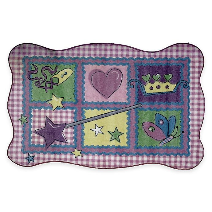 Alternate image 1 for Fun Rugs™ Fairy Quilt 3-Foot 3-Inch x 4-Foot 10-Inch Accent Rug in Purple