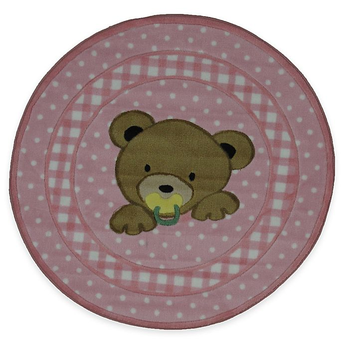 Alternate image 1 for Fun Rugs Teddy 39-Inch Round Area Rug in Pink
