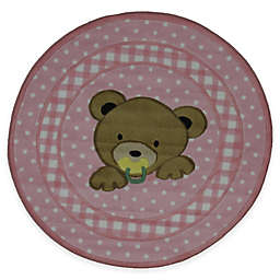 Fun Rugs Teddy 39-Inch Round Area Rug in Pink