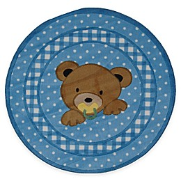Fun Rugs™ Teddy Blue 39-Inch Round Accent Rug