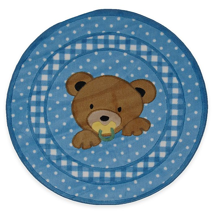 Alternate image 1 for Fun Rugs™ Teddy Blue 39-Inch Round Accent Rug