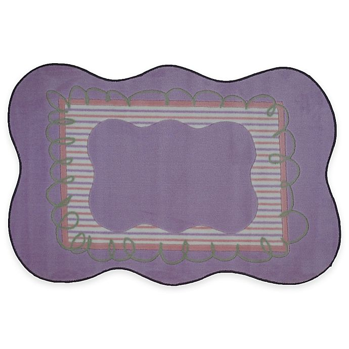 Alternate image 1 for Fun Rugs™ Girls Scalloped 3-Foot 3-Inch x 4-Foot 10-Inch Accent Rug in Purple