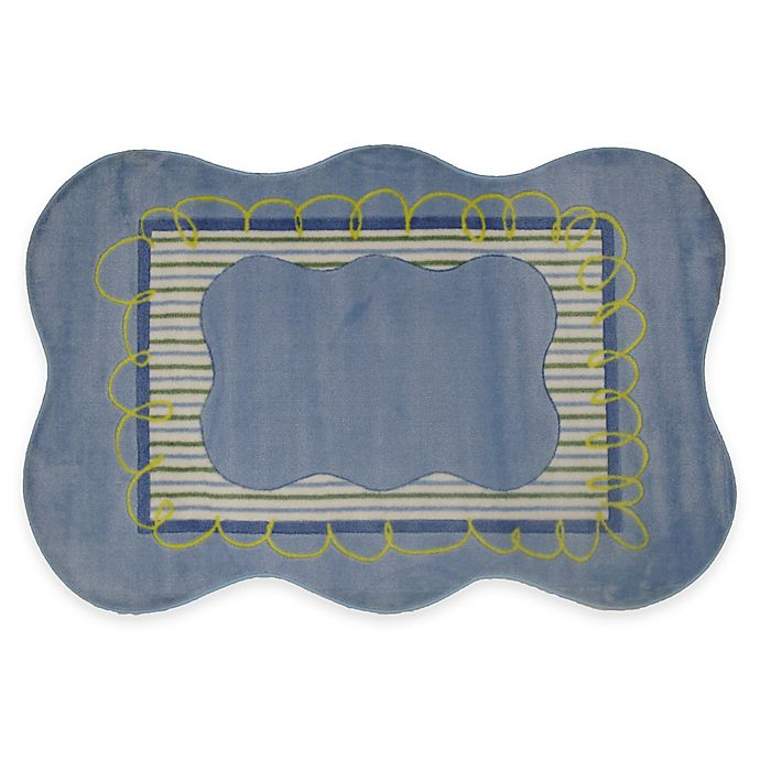 Alternate image 1 for Fun Rugs™ Boys Scalloped 3-Foot 3-Inch x 4-Foot 10-Inch Accent Rug in Blue
