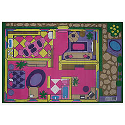 Fun Rugs® Dollhouse 4-Foot 3-Inch x 6-Foot 6-Inch Area Rug