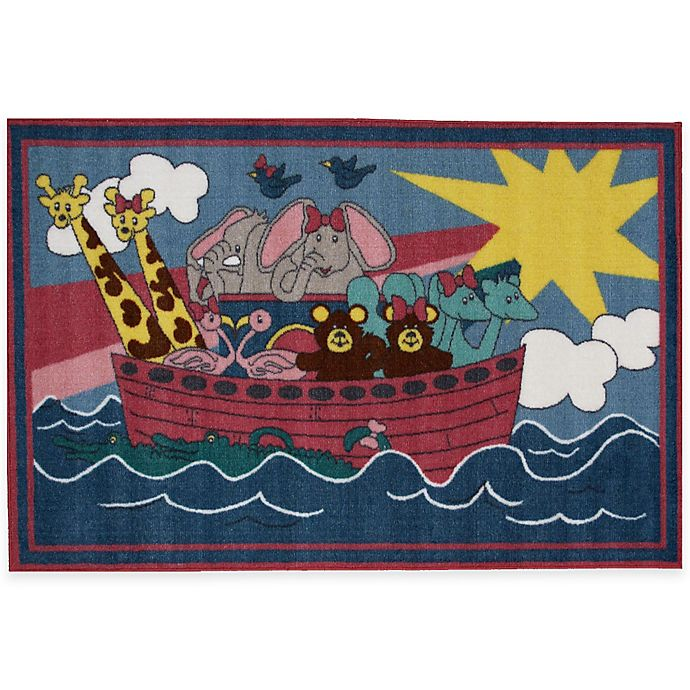 Alternate image 1 for Fun Rugs® Noah's Ark 2-Foot 7-Inch x 3-Foot 11-Inch Area Rug