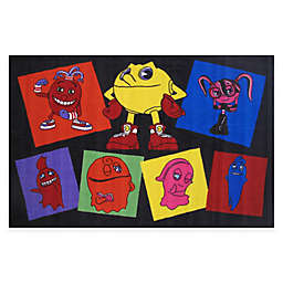Fun Rugs® Pacman Pac Party 3-Foot 3-Inch x 4-Foot 10-Inch Accent Rug