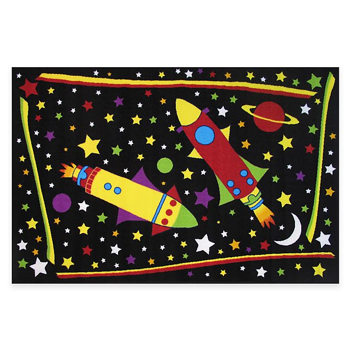 Fun Rugs Outer Space 4 Foot 10 Inch X 3 Foot 3 Inch Area Rug