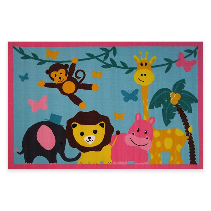 Alternate image 1 for Fun Rugs™ Jungle Party 3-Foot 3-Inch x 4-Foot 10-Inch Area Rug