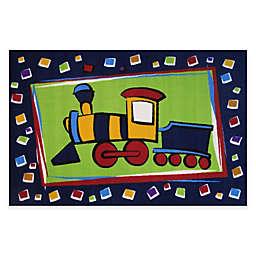 Fun Rugs® Choo Choo Train 4-Foot 10-Inch x 3-Foot 3-Inch Area Rug