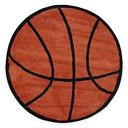 Fun Rugs™ Basketball Shape 39-Inch Round Area Rug in Orange/Black