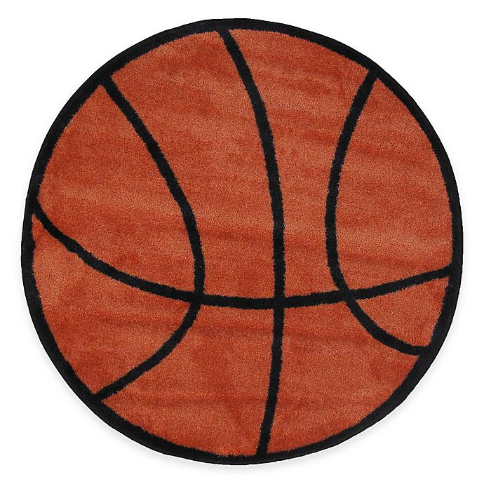 Fun Rugs™ Basketball Shape 39-Inch Round Area Rug In