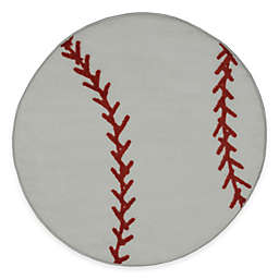 Fun Rugs™ Fun Time 3-Foot 3-Inch Round Baseball Rug