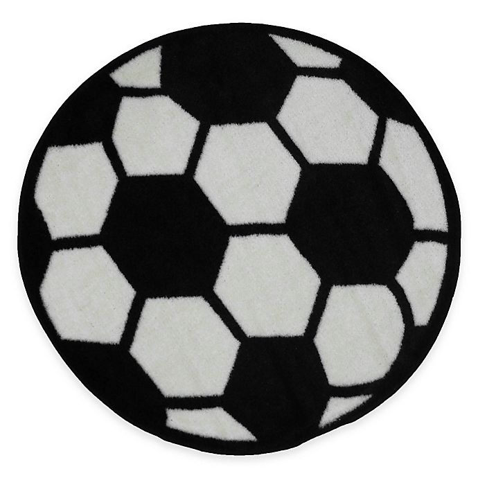 Alternate image 1 for Fun Rugs™ Fun Time 3-Foot 3-Inch Round Soccer Ball Rug