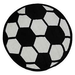 Fun Rugs™ Fun Time 3-Foot 3-Inch Round Soccer Ball Rug