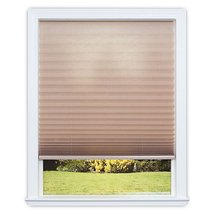 Alternate image 1 for Redi Shade Easy Lift Cordless Pleated 64-Inch Length Soft-Spun Shade