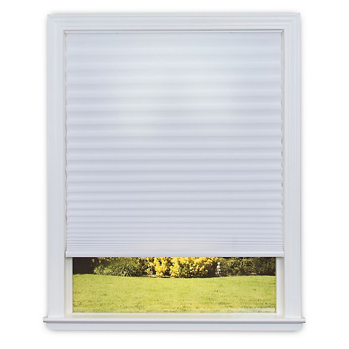 Alternate image 1 for Redi Shade Easy Lift Cordless Pleated 36-Inch x 64-Inch Soft-Spun Shade in White