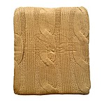 Cable Knit Throw in Camel