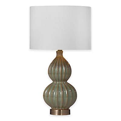Bassett Mirror Company Cordova Table Lamp in Blue/Green