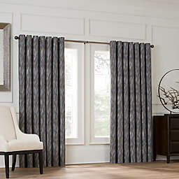 Valeron Lustre Grommet Top 108-Inch Window Curtain Panel in Silver