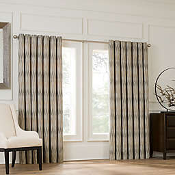 Valeron Lustre Grommet Top 120-Inch Window Curtain Panel in Sand