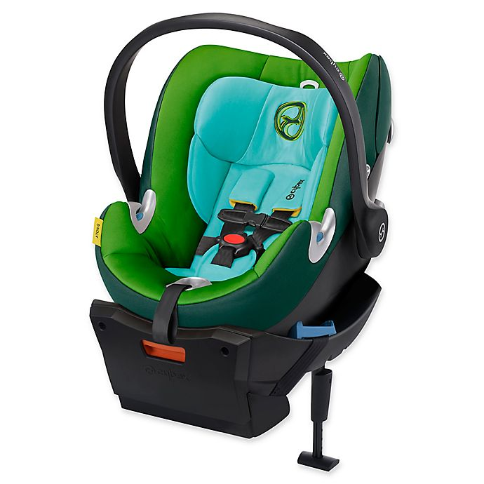 Alternate image 1 for Cybex Platinum Aton Q Infant Car Seat in Green Hawaiian