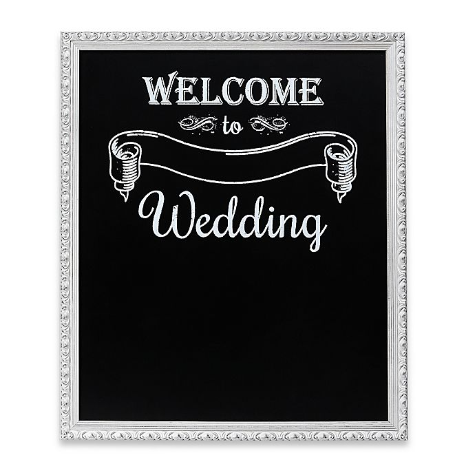 "Kitchen Wall Decor Bed Bath And Beyond: ""Welcome Wedding"" Framed Chalkboard Wall Plaque"