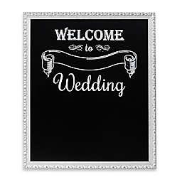 """Welcome Wedding"" Framed Chalkboard Wall Plaque"