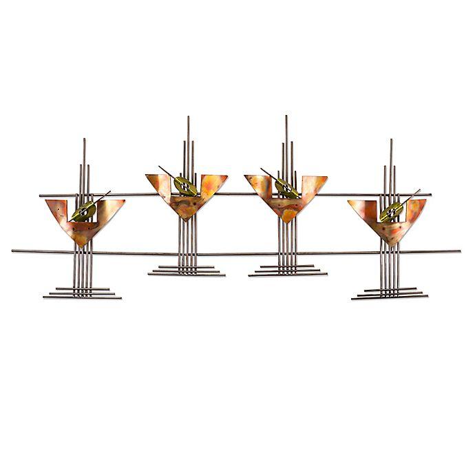 Martini Glasses Metal Wall Art Sculpture Bed Bath Beyond
