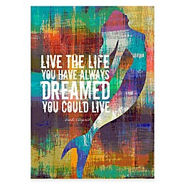 """Courtside Market """"Live the Life"""" Canvas Wall Art"""