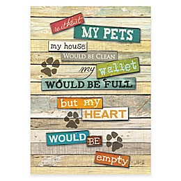 "Courtside Market ""My Pets"" Canvas Wall Art"