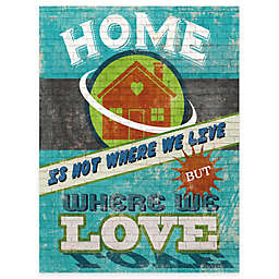 """Courtside Market """"Home Is Where We Love"""" 16-Inch x 20-Inch Gallery Canvas Wall Art"""