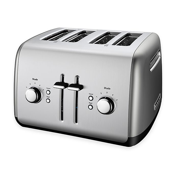 Alternate image 1 for KitchenAid® 4-Slice Toaster in Contour Silver