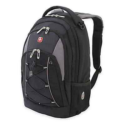SWISSGEAR® 17.5-Inch Bungee Backpack in Black/Grey