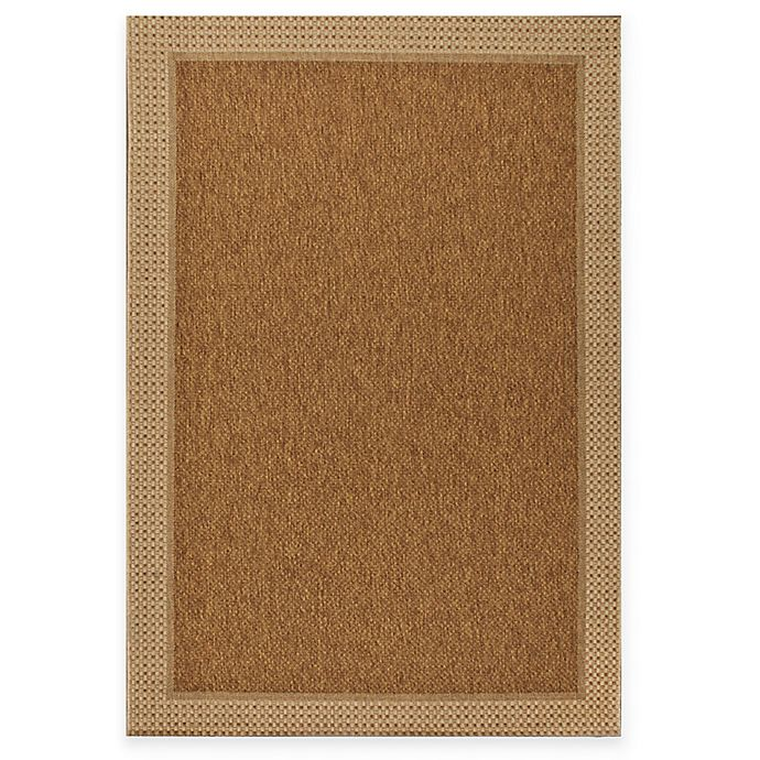 Miami Sisal Indoor Outdoor Area Rug In Tan Bed Bath And