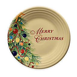 "Fiesta® Christmas ""Merry Christmas"" Luncheon Plate in Ivory"